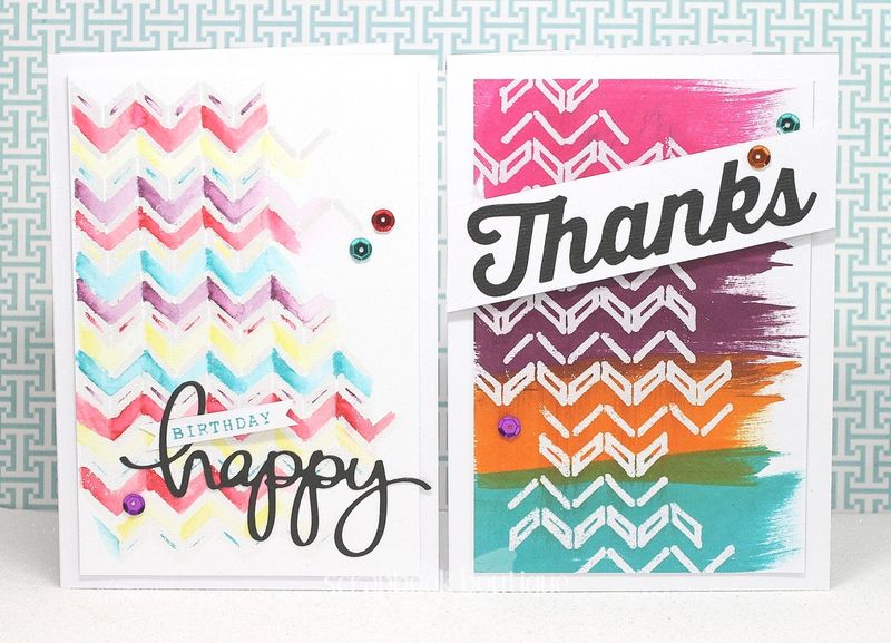 2 Chevron Cards