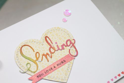 Watercoloured panels Sending card CU