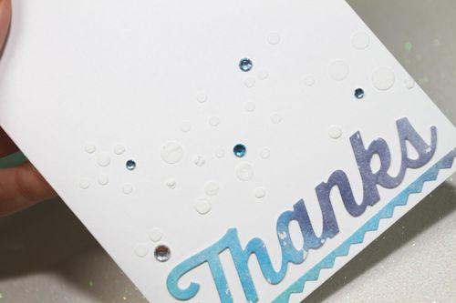 Watercoloured panels Thanks spot cardCU