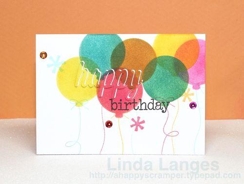 Distressed Birthday Balloons