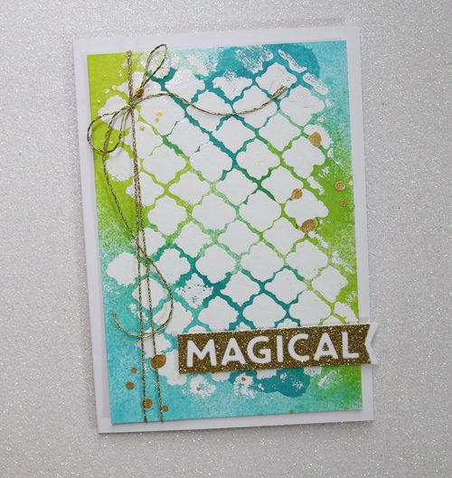Magical White Embossed Card 2