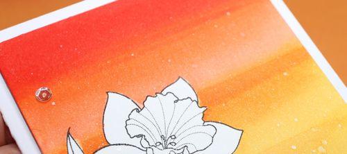 Liquid Masking Daffodil Card narrow