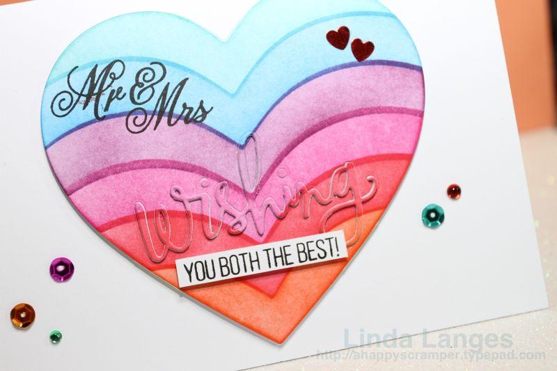 Ink Blended Heart Wedding Card CU
