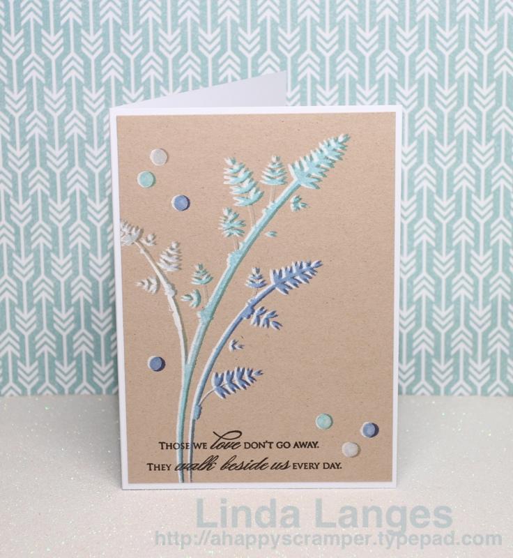 Sympathy Card KC stencil