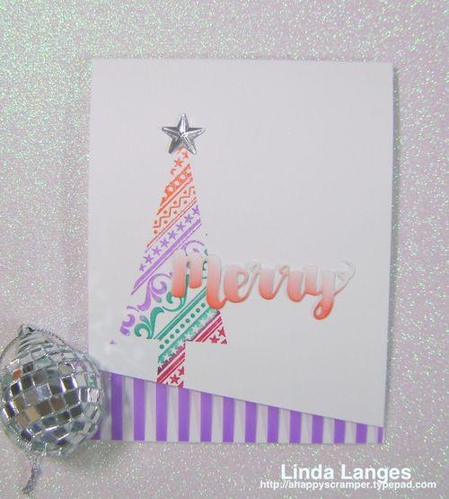 Whimsical Xmas Card Purple