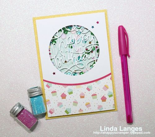 Shaker B'Day Card top view
