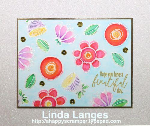 WPlus9 Watercoloured card