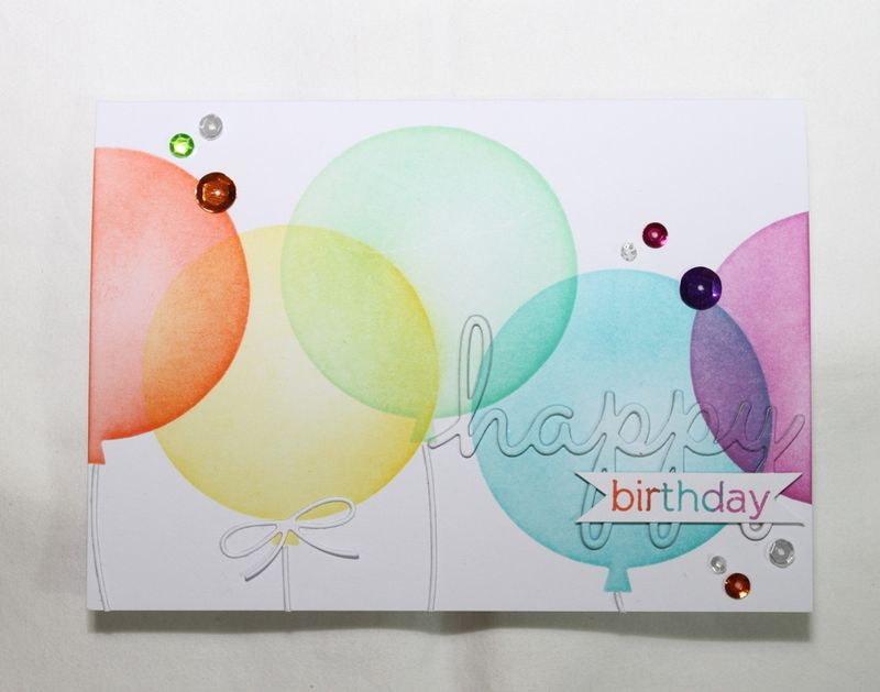 Ink Blended Balloons