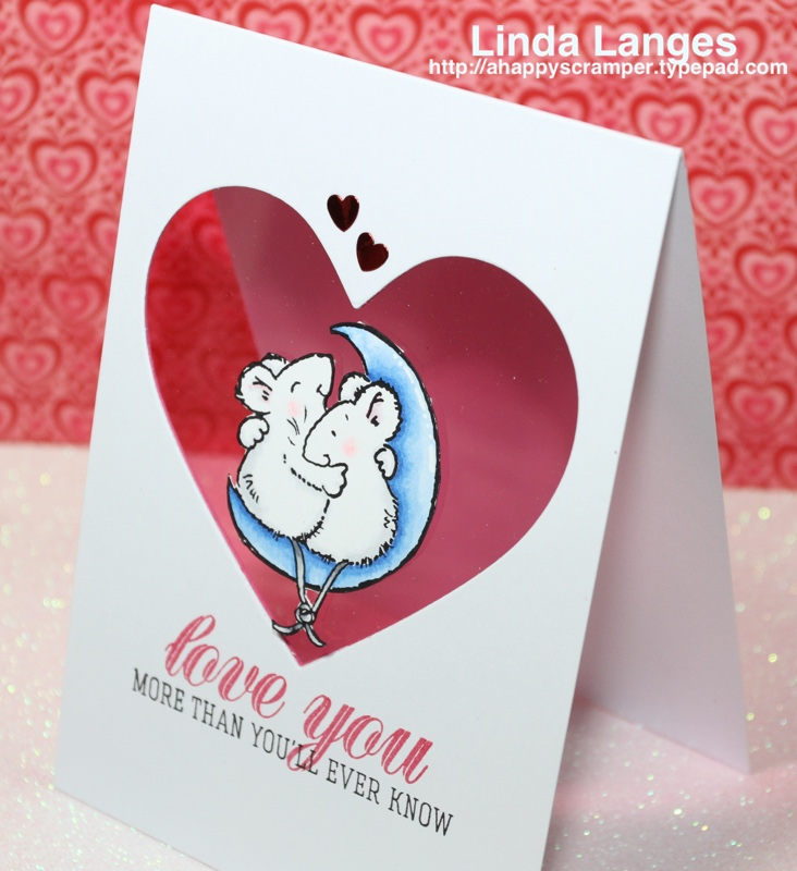 Mice Love You Card acetate view