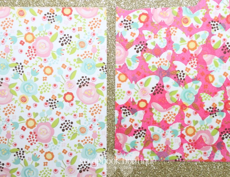 April 22 card patterned papers