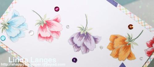 Altenew Peony Bouquet, Lawn Fawn Perfectly Plaid, birthday card, colourful