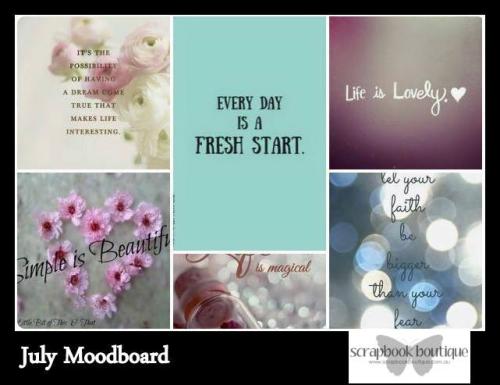 July Mood Board Scrapbook Boutique