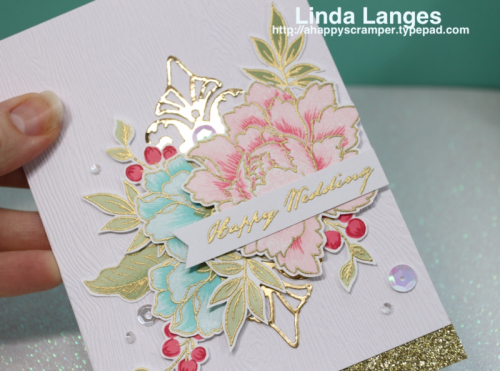 CASE'ing Yana; Altenew Peony Bouquet; Wedding card