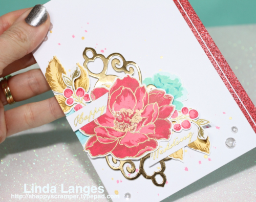 Altenew July Challenge; Altenew Beautiful Day; #altenew; #sssfave; Linda Langes; Wedding card