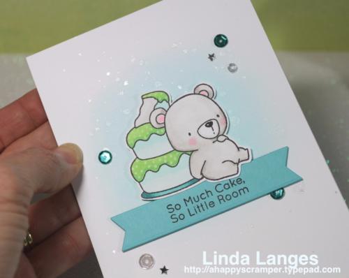 MFT Colour Challenge #50, #mft, #mftstamps, #sssfave, MFT Beary Special Birthday Stamps, Linda Langes, Birthday Card.