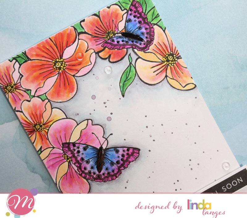 Floral angled CU