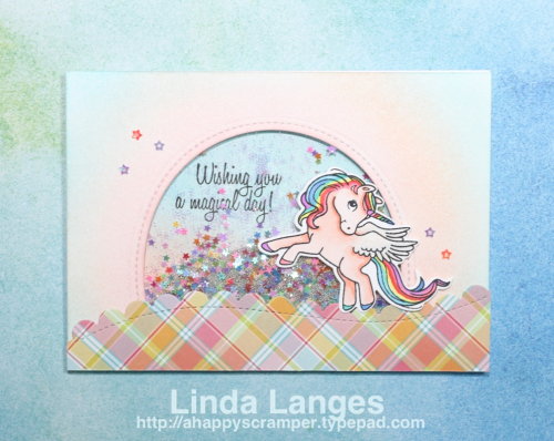 Magical Ponies Shaker Card WMarked
