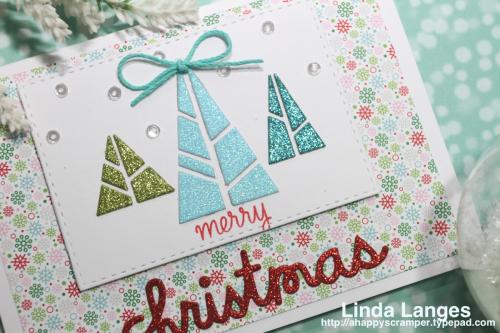 Merry Christmas Trees CU