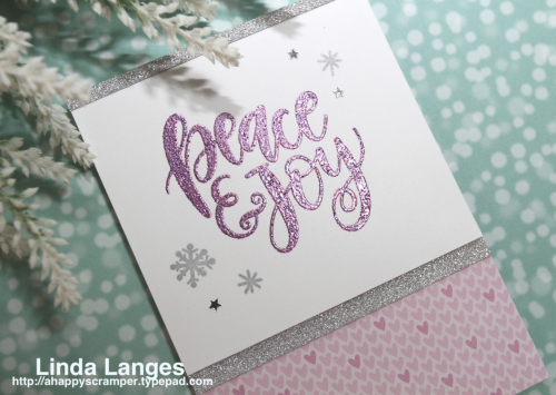 Peace and Joy Pink:Silver CU