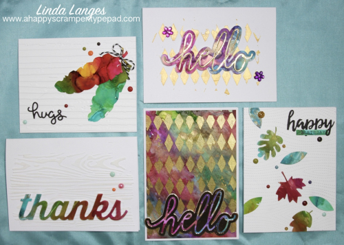 Alcohol Inks 5 cards