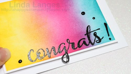 Black Congrats Card CU