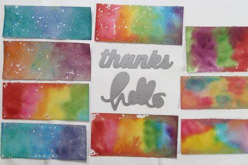 Watercoloured panels