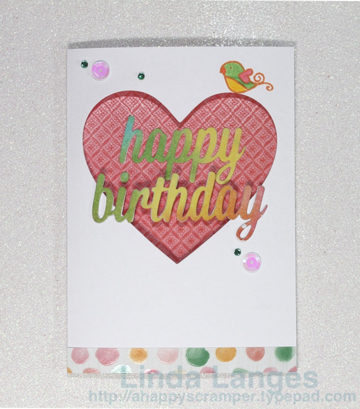 Watercoloured panels HB card