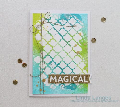 Magical white embossed card