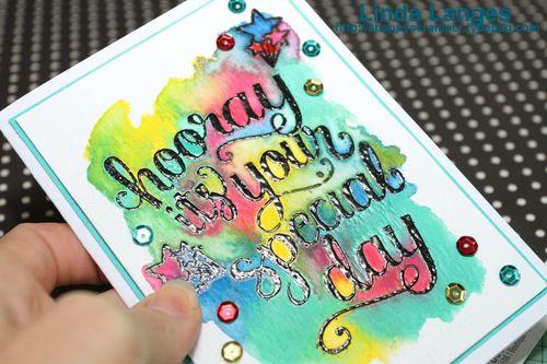 Hooray Watercoloured CU