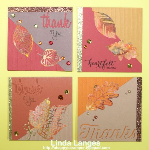 Autumn Notecard x4
