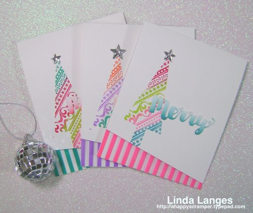 Whimsical Xmas Cards x 3
