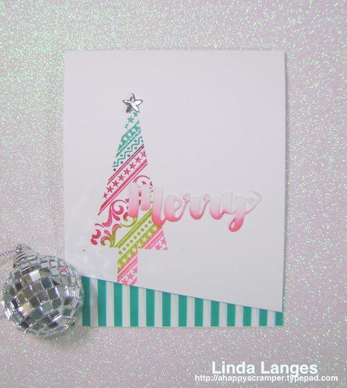 Whimsical Xmas Card Green