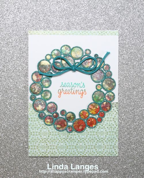 Smooshed ring wreath card