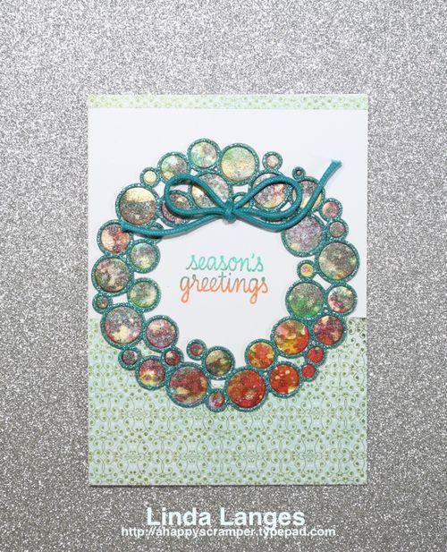 Smooshed ring wreath card