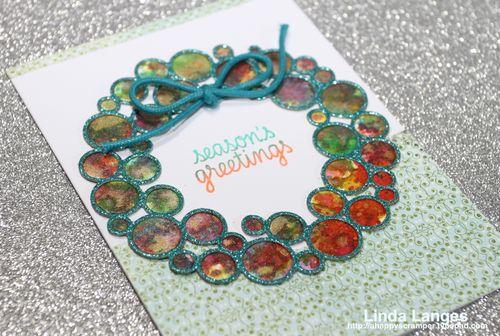 Smooshed ring wreath card CU