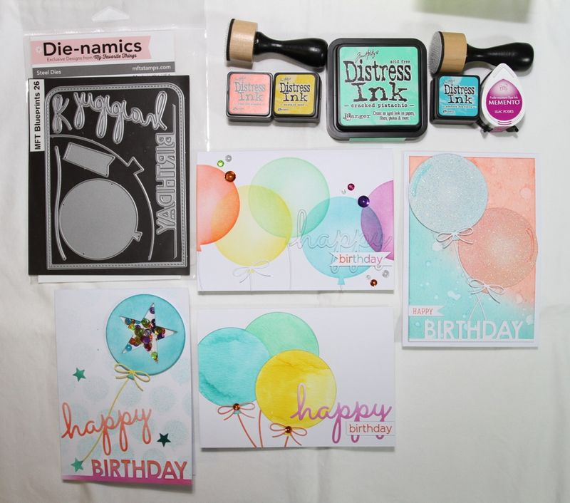 One Die Four WaysSupplies and cards