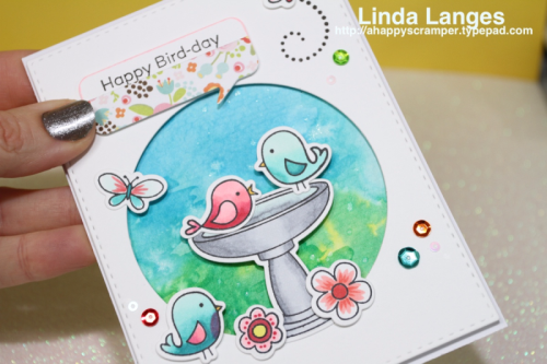 MFT I'm Tweet On You; #mftstamps; MFT 10th Birthday Challenge; Linda Langes; Birthday Card.