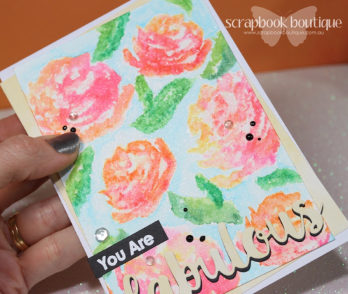 Altenew Brush Art Florals; MFT Absolutely Fabulous Die-namics; #altenew; #mft; #scrapbookboutique; Zig Clean Colour Real Brush Markers.
