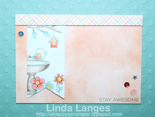 MFT Sketch Challenge, MFT Colour Challenge, MFT Twee On You Stamp Set, Copics, Linda Langes, Happy Scramper.