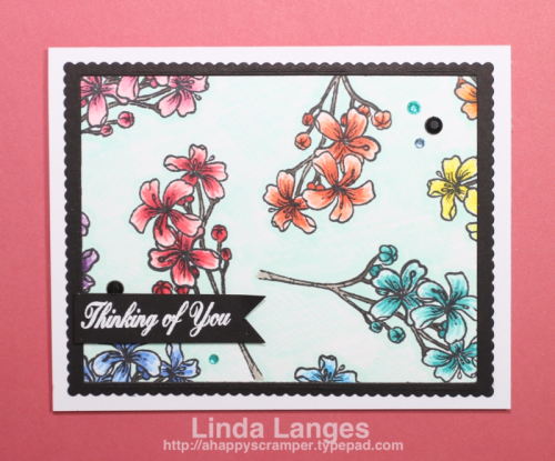 Happy Little Stampers video - Especially For You Stamp Set, Copic Colouring, rainbow, Linda Langes, Happy Scramper.