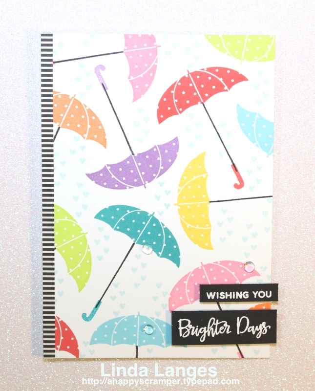 PPP Feature Coloured Umbrellas Card