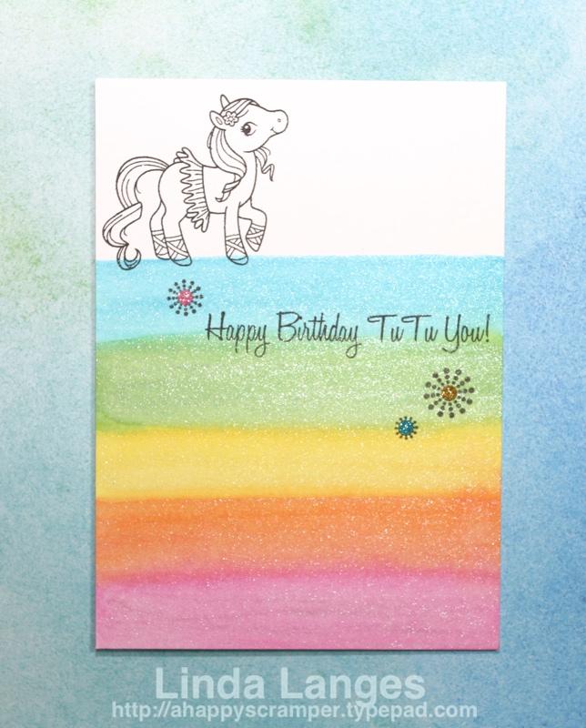 Magical Ponies Rainbow Card watermarked