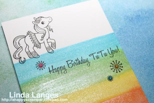 Magical Ponies Rainbow Card watermarked CU