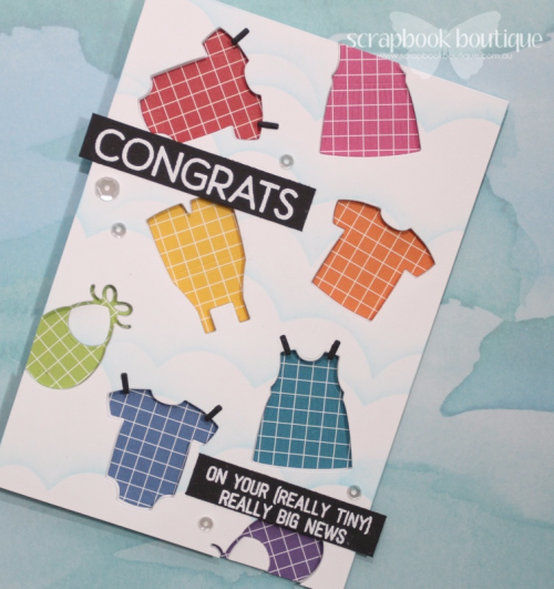MFT Baby Card, Linda Langes, Scrapbook Boutique
