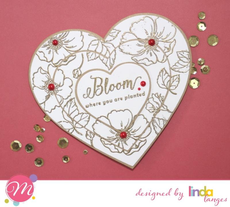 Heart card Red BG
