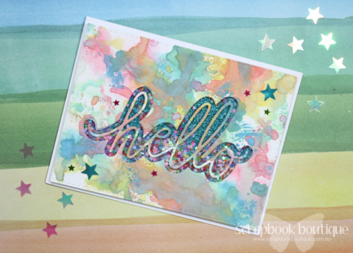 Distress Oxide Inks, Linda Langes, Scrapbook Boutique, Poppy Stamps Hello