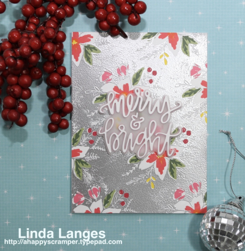 Blooms Fill In Xmas Card
