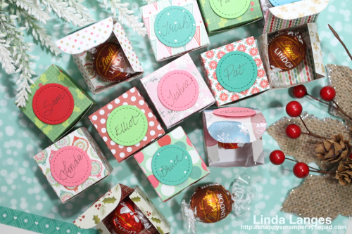 Place Card Gift Boxes-open on table