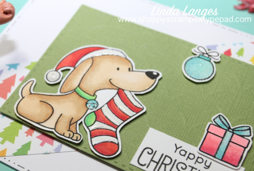 Yappy Christmas enamel accents