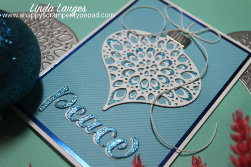 Ornament card blue